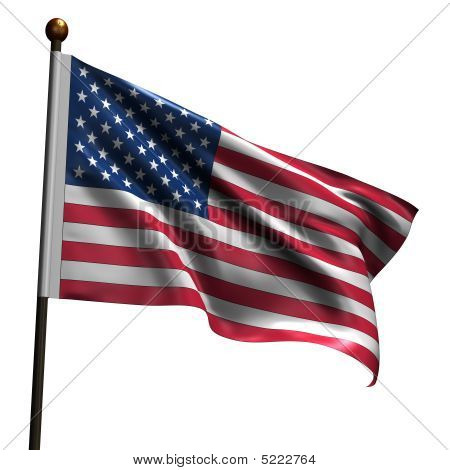 High Resolution American Flag