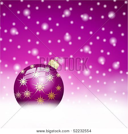 Lila Christmas Ball  Background