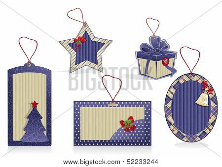 Christmas Blue Labels