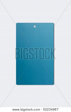 Blue Paper Hang Tag