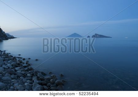 panarea at sunset