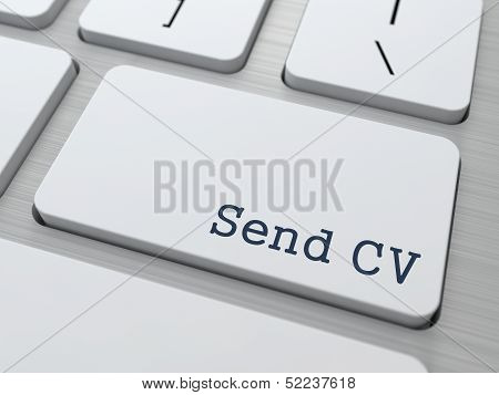 White Keyboard with Send CV Button.