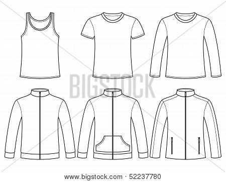Singlet, T-shirt, Long-sleeved T-shirt, Sweatshirts And Jacket Template