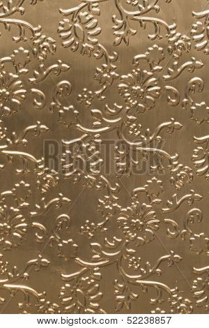 Golden Tinfoill Embossed Background