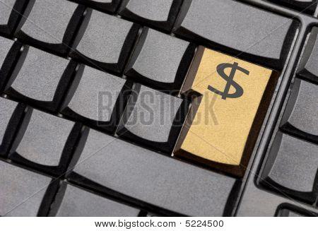 Dollar Sign Computer Key
