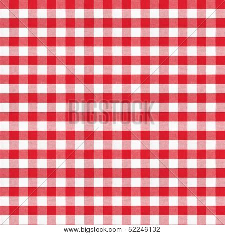 real seamless pattern of red gingham classic tablecloth