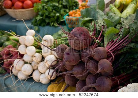 Beets and Radishes at a local farmers market