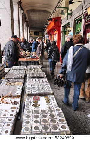 Flea Market In Madrid