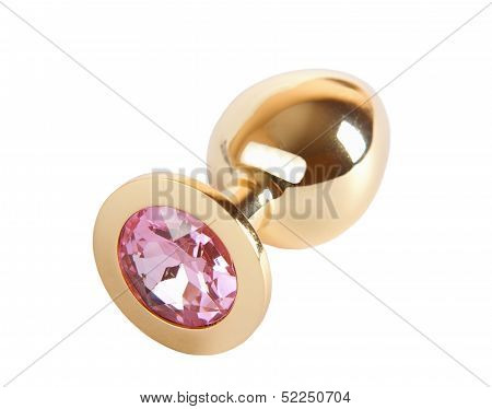 Metal Butt Plug With Crystal