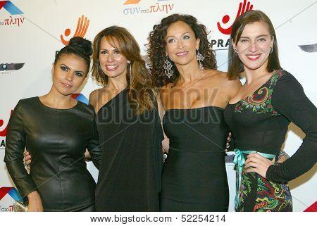 HOLLYWOOD -  Vassy Karagiorgos, Patricia Kara, Sofia Milos and Ariana Savalas arrive at the 2013 Philhellenes Gala at the SkyBar on October 9, 2013 at the Mondrian Los Angeles, West Hollywood, CA.
