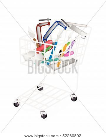 A Set Of Builder Tools In Shopping Cart
