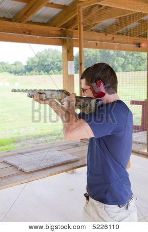 Active Shot Gun Practice At Range