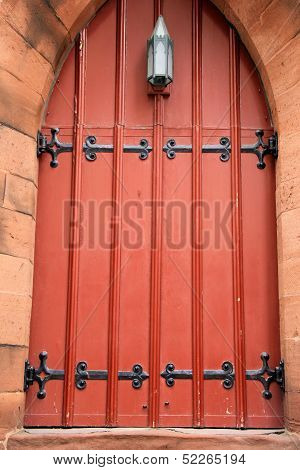 The big red door