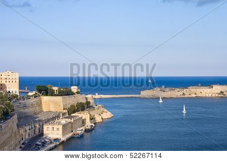 View To Grand Harbour Of Valetta