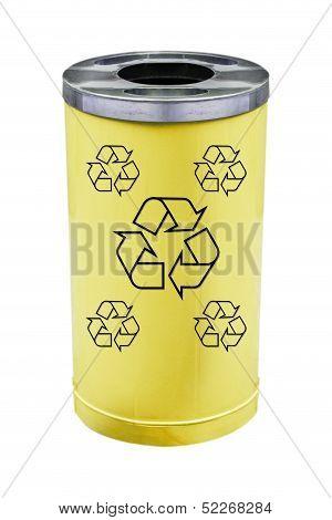 recycle yellow bin