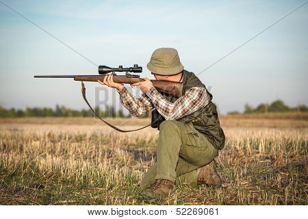 Hunter With Shotgun