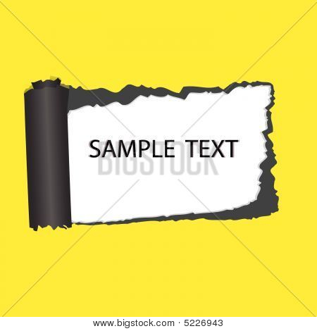 Structure Of Broken Off Paper. Vector Illustration