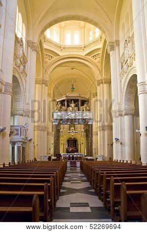 Interior Of Ta' Pinu Church On Gozo, Malta