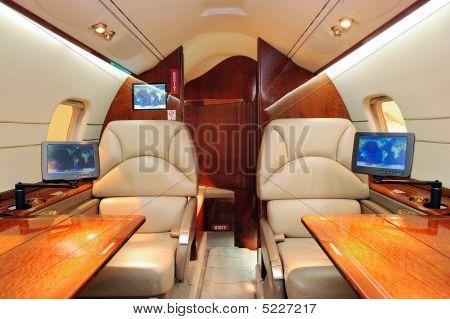 Innere des Jet-Flugzeug