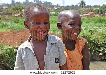 Children Laugh In Kampala Slums