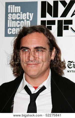 NEW YORK-OCT 12: Actor Joaquin Phoenix attends