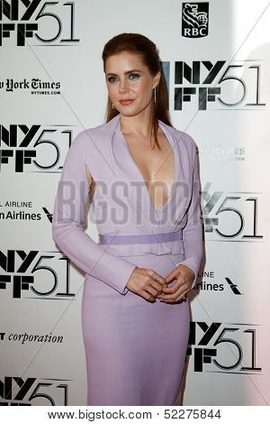NEW YORK-OCT 12: Actress Amy Adams attends the premiere of