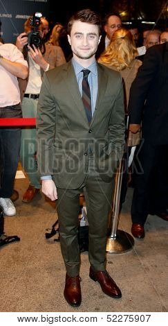 NEW YORK-SEP 30: Actor Daniel Radcliffe attends a screening of