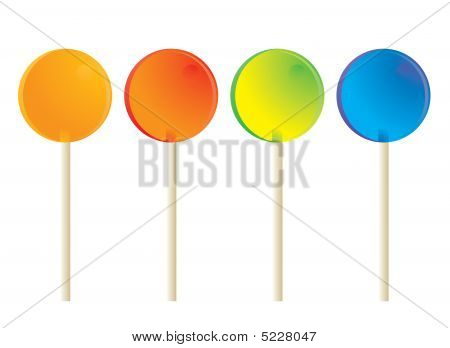 Lollipops Isolated