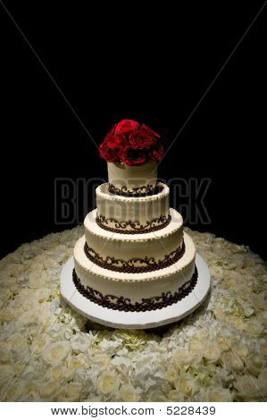 Traditional Round Four Tiered Wedding Cake