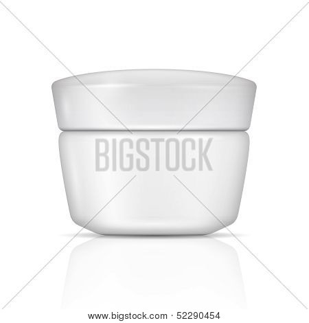 White body cream can