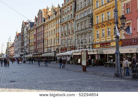 South Frontage Of The Old Market Square, Wroclaw