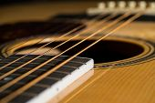 foto of fret  - Close Up of a guitar body background image