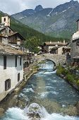 picture of italian alps  - Chianale  - JPG