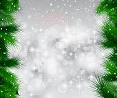 stock photo of xmas star  - 2014 Christmas Colorful Background with a waterfall of ray lights and a lot of baubles and stars - JPG