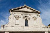 stock photo of carmelite  - Santa Maria in Traspontina Church in Rome - JPG