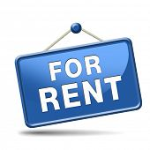 stock photo of house rent  - For rent sign - JPG