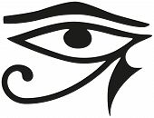 image of hieroglyphic symbol  - The Eye of Horus is an ancient Egyptian symbol of protection - JPG