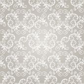 pic of damask  - vector seamless vintage wallpaper pattern on gradient background fully editable eps 8 file with clipping mask and pattern in swatch menu - JPG