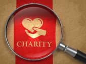 image of glass heart  - Charity Concept - JPG