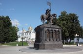 The monument to Prince Vladimir and the saint Fyodor - Baptist of land Vladimir. Russia