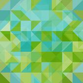 stock photo of polygons  - Abstract background blue and green triangles and polygons - JPG