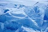 stock photo of arctic landscape  - Winter ice landscape on  lake Baikal - JPG