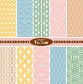 foto of apparel  - Collection of 10 geometric colorful seamless pattern background - JPG