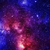 image of outer  - colorful and beautiful galaxy somewhere in deep outer space - JPG