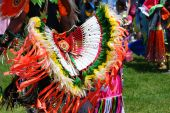 stock photo of native american ethnicity  - Native American Indian dance in colorful costume - JPG