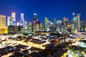 image of singapore night  - Singapore at night - JPG