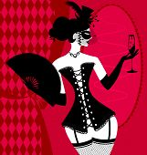 pic of mummer  - abstract carnival lady in a black corset - JPG