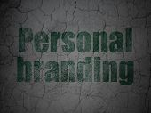 Advertising concept: Personal Branding on grunge wall background poster