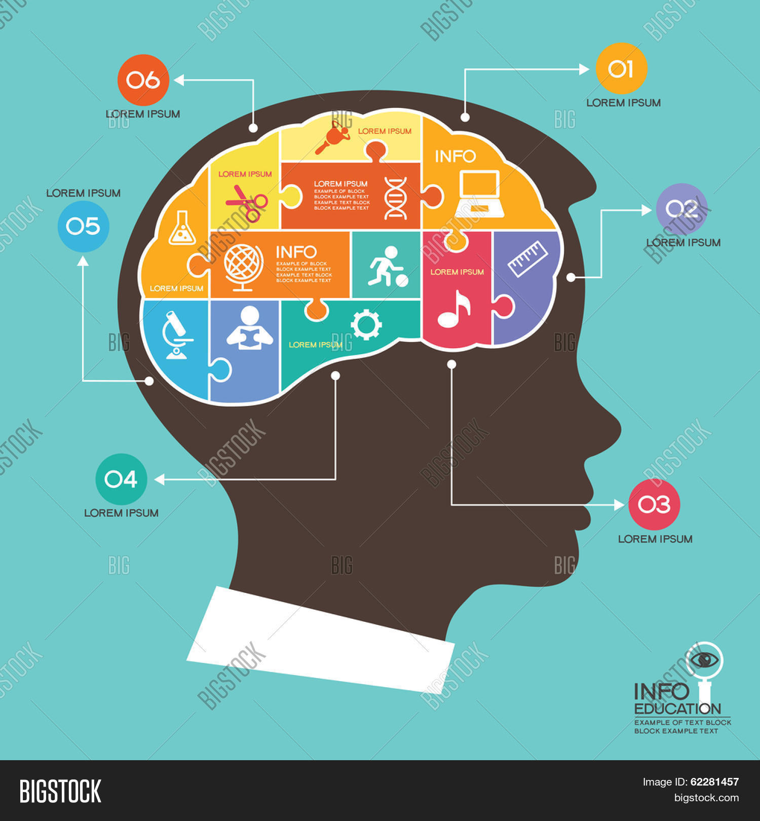 Infographic Template Head Puzzle, Vector & Photo | Bigstock