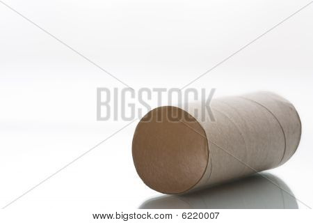 Used Up Toiled Paper Roll